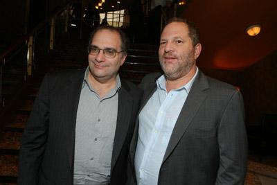 Bræðurnir Bob og Harvey Weinstein.