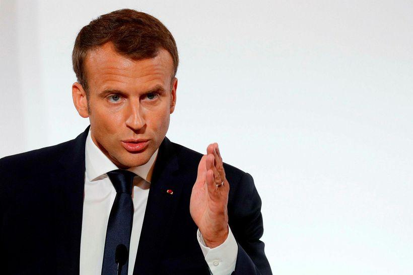 """Emmanuel Macron Frakklandsforseti hefur hvatt öryggisyfirvöld til að """"fullnýta"""" þau ..."""