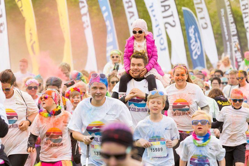 Frá Color Run í Reykjavík.