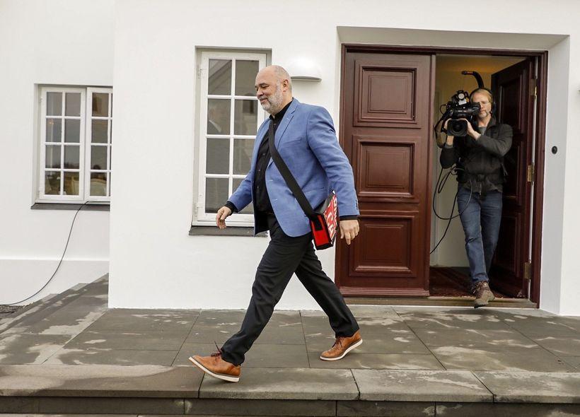 Logi Már Einarsson, the leader of the Social Democratic Aliialnce, ...