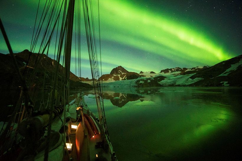 The marvelous northern lights often show up at the sailing ...