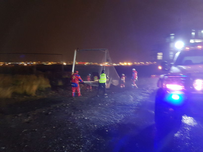 ICE-SAR members rescued a goal post that took off in ...