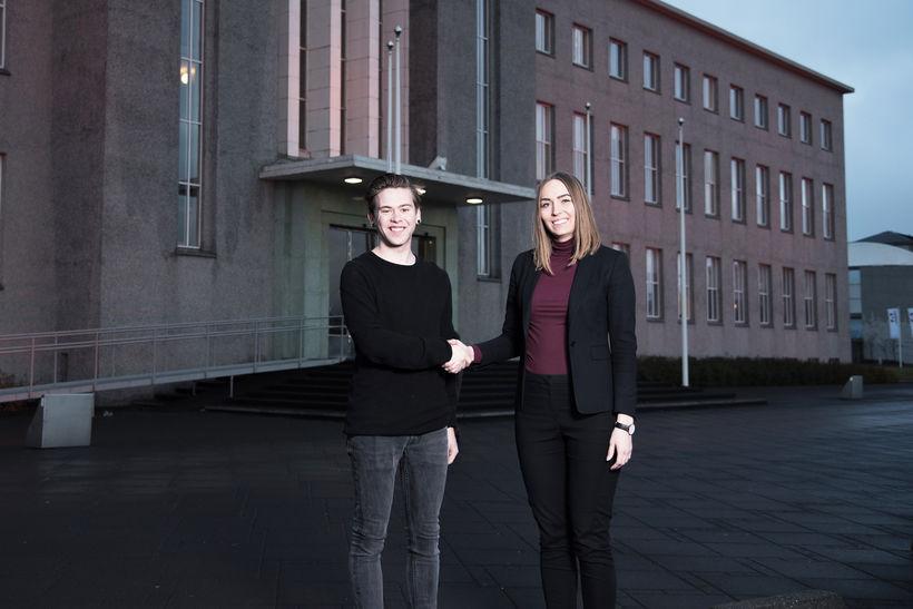 Orri Heimisson, formaður Orators, og María Björk Einarsdóttir, framkvæmdastjóri Almenna ...