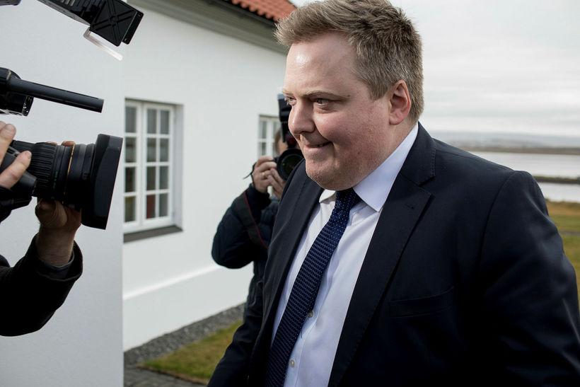 Sigmundur Davíð Gunnlausson, formaður Miðflokksins.