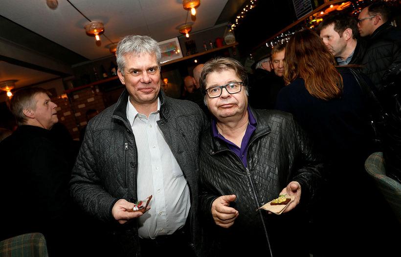 Guðmundur Benediktsson og Einar Lárusson.