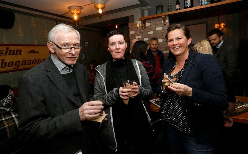 Þröstur Magnússon, Úlla Þrastardóttir og Jónína Björnsdóttir.