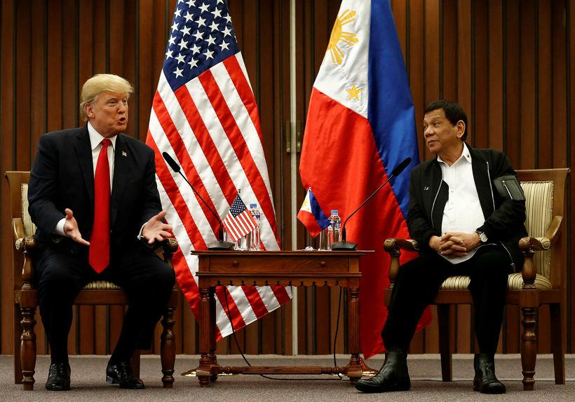 Donald Trump og Rodrigo Duterte.