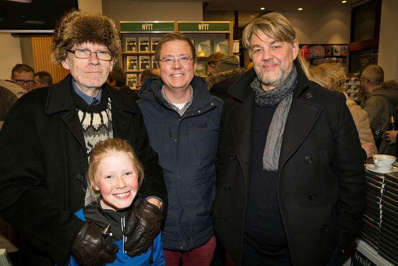 Úlfar Þormóðsson, Bríet Brekadóttir, Breki Karlsson og Helgi Björnsson.