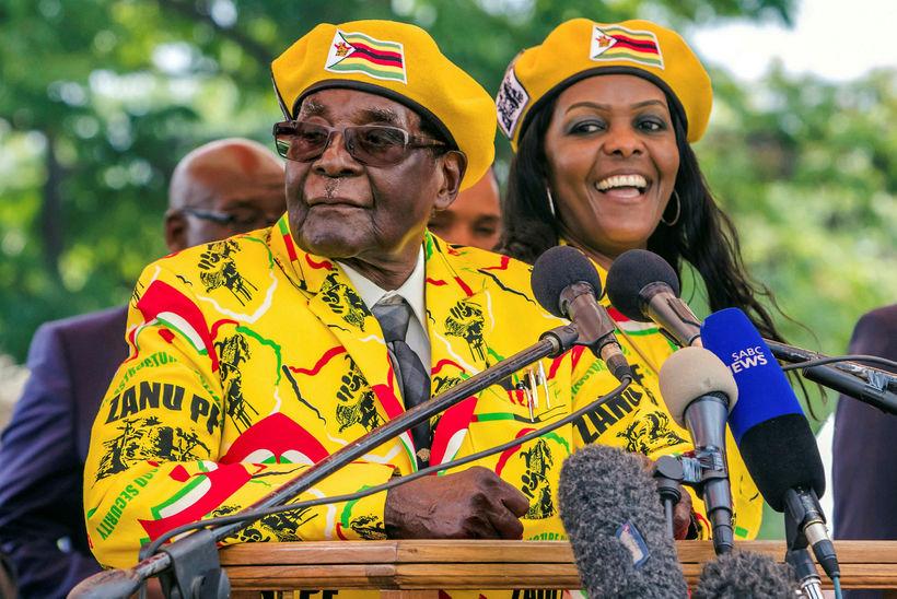 Forseti Simbabve, Robert Mugabe.