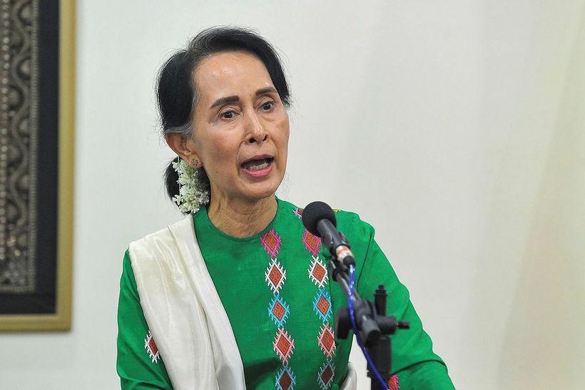 Aung San Suu Kyi hefur hafnað öllum ásökunum um þjóðernishreinsanir.