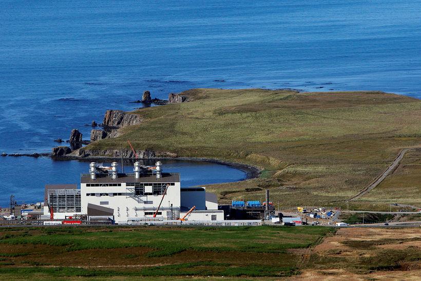 Kísilver PCC er á iðnaðarsvæðinu á Bakka, um 2,5 km ...