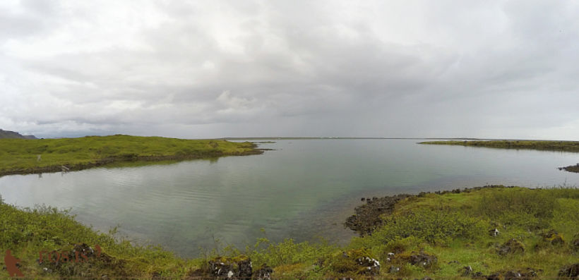 Frá Botnavík við Hlíðarvatn.