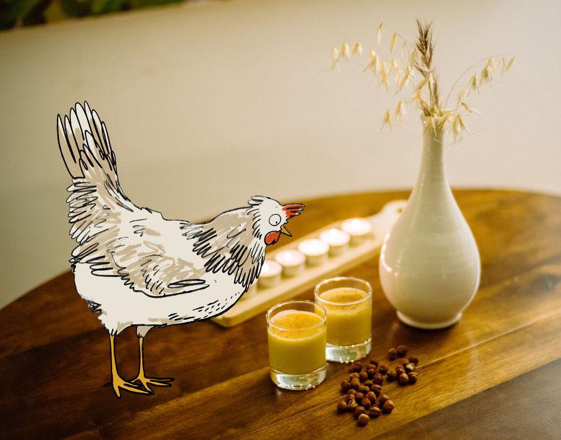 Eggjapúnsinn er hrikalega jólalegur og auðvitað próteinríkur sökum eggjanna!
