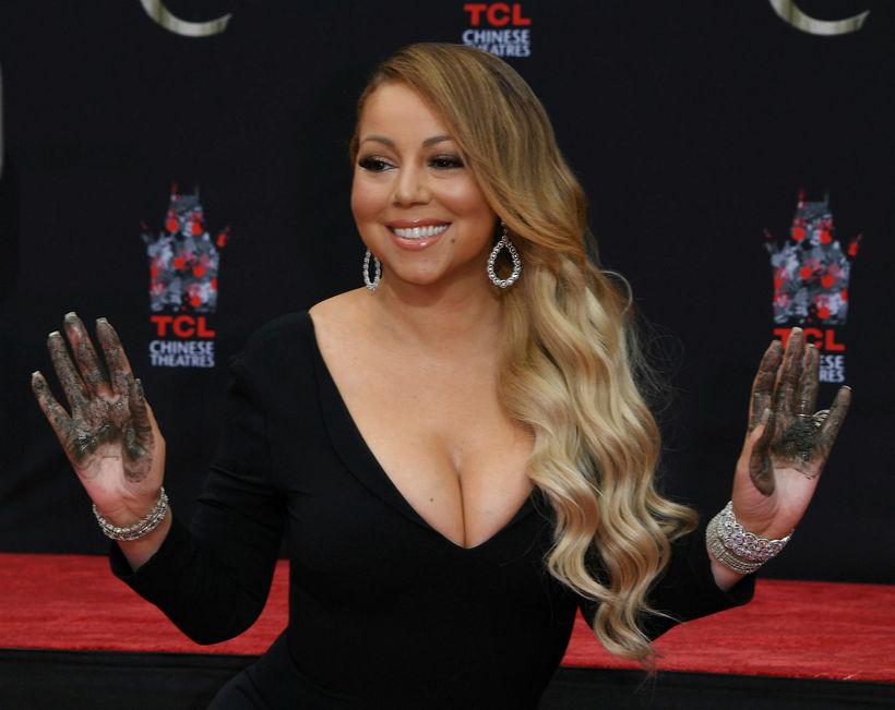 Mariah Carey er líklega búin að vera dugleg í ræktinni ...