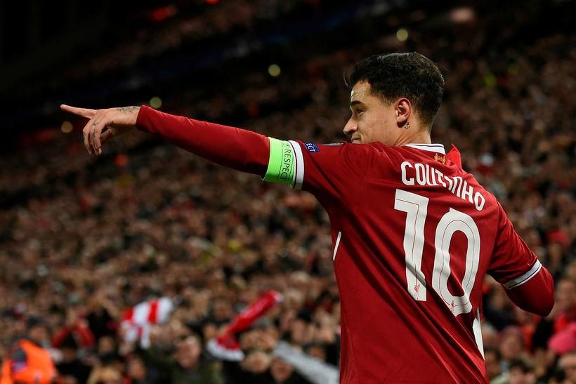 Philippe Coutinho átti stórleik í kvöld.