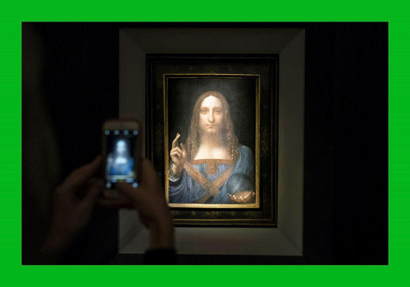 Salvator Mundi eftir Leonardo da Vinci.