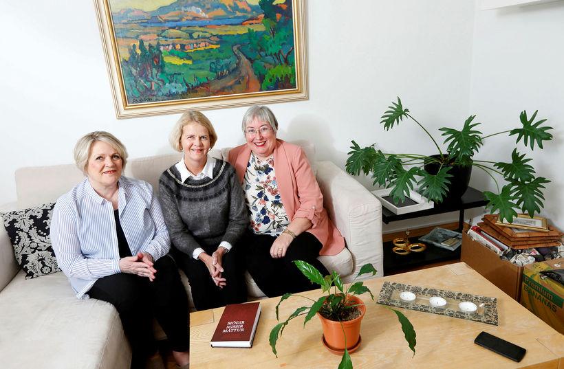 Oddný Þ. Garðarsdóttir, Vera Björk Einarsdóttir og Þóranna M. Sigurbergsdóttir, ...
