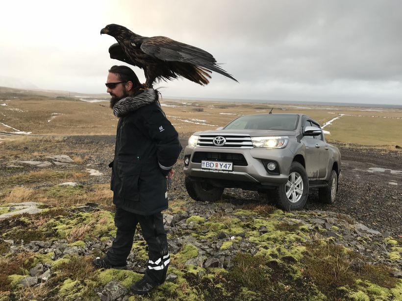 Snorri segir að fuglinn hafi verið nokkuð máttfarinn þegar þeir ...