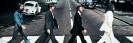 Myndin á bítlaplötunni Abbey Road.