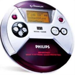 Ferðageislaspilari frá Philips sem spilar líka mp3-diska auk þess sem ...