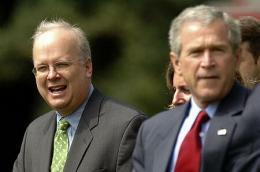 Karl Rove og George W. Bush þegar allt lék í ...