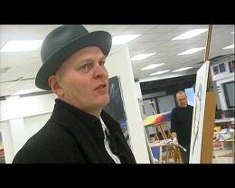 Hallgrímur Helgason gengur oft með hatt.