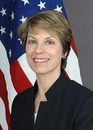 Carol van Voorst, fráfarandi sendiherra Bandaríkjanna.
