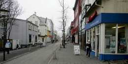 Laugavegur í Reykjavík.
