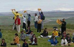 Falun Gong-liðar mótmæltu er forseti Kína kom til Íslands sumarið ...