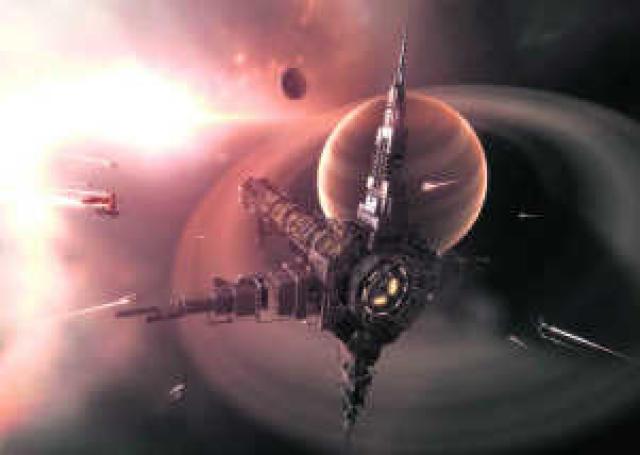 Eve Online gerist í fjarlægum heimi.