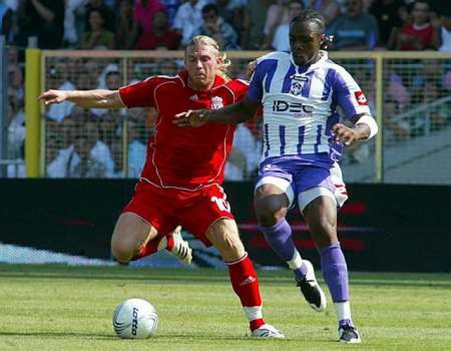 Andriy Voronin í leik með Liverpool.