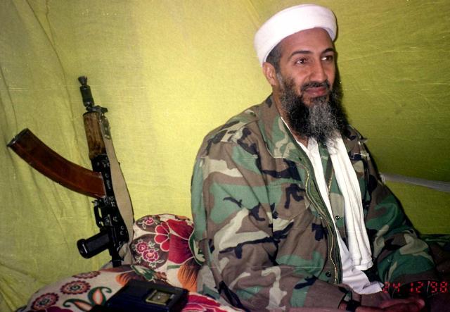 Mynd af Osama bin Laden frá 1998.