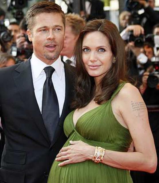 Brad Pitt og Angelina Jolie