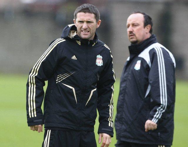 Rafael Benítez ásamt Robbie Keane.