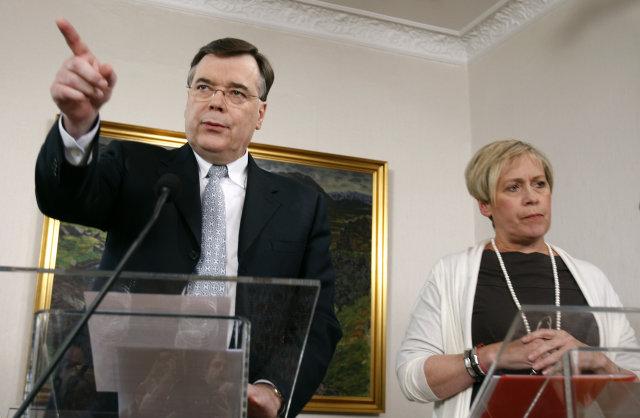 Geir H Haarde forsætisráðherra og Ingibjörg Sólrún Gísladóttir utanríkisráðherra.