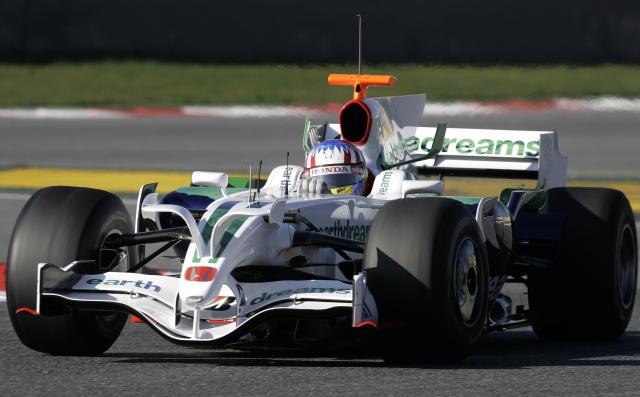 Bruno Senna við reynsluakstur hjá Honda í fyrrahaust.