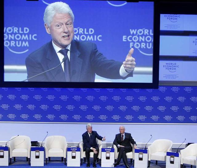 Fyrirmenni af öllum toga sækja Davos-ráðstefnuna.