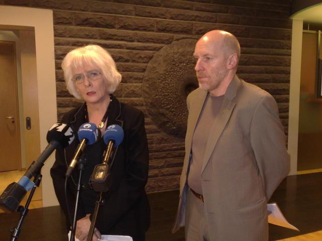 Jóhanna Sigurðardóttir, tilvonandi forsætisráðherra, og Steingrímur J. Sigfússon, væntanlegur fjármálaráðherra, ...