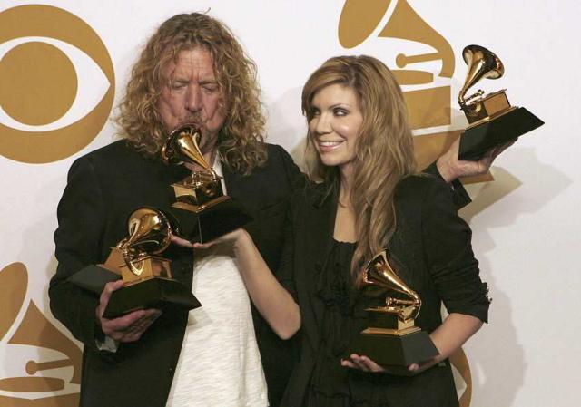 Robert Plant og Alison Krauss gerðu það gott á Grammy-hátíðinni, ...