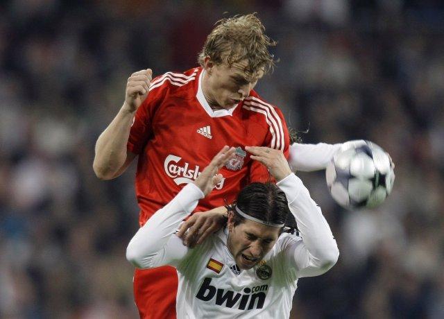 Úr leik Liverpool og Real Madrid í fyrri leik liðanna ...