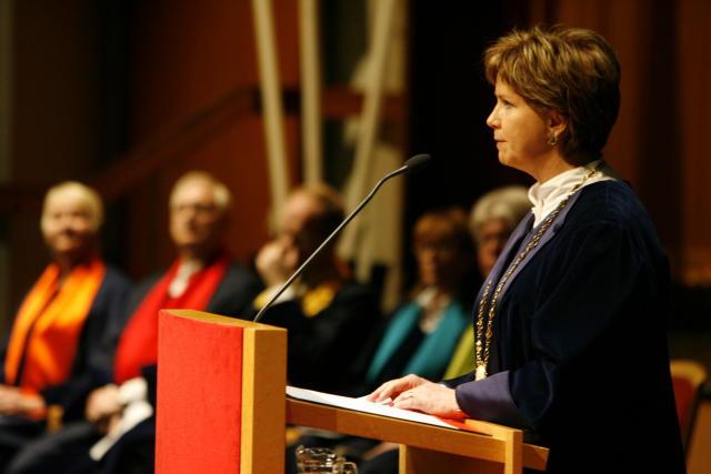 Kristín Ingólfsdóttir rektor Háskóla Íslands.