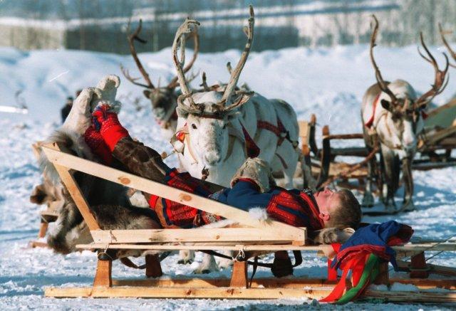 Járnbrautin var á leið til Lillehammer þar sem þessi mynd ...