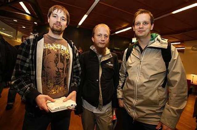 Þrír forsvarsmenn Pirate Bay, þeir Fredrik Neij, Gottfrid Svartholm Warg ...