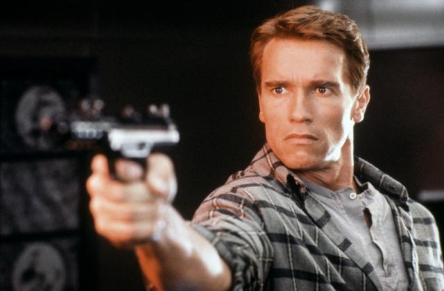 Arnold Schwarzenegger lék aðalhlutverkið í Total Recall.