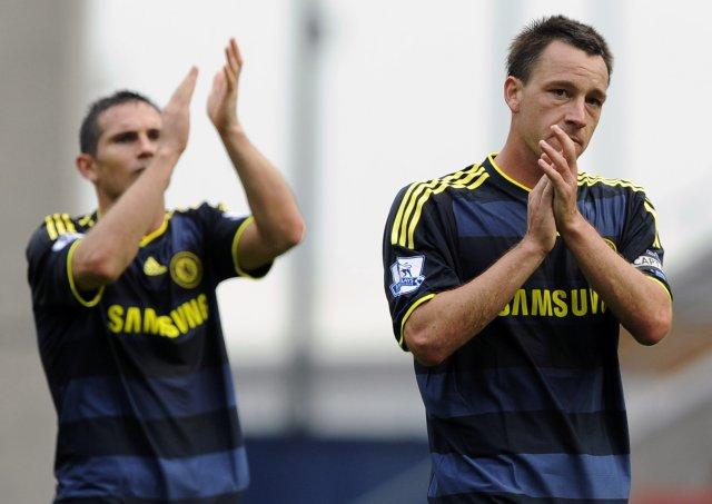 John Terry fyrirliði Chelsea ásamt Frank Lampard.