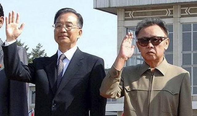 Wen Jiabao, forsætisráðherra Kína, og Kim Jong-il, leiðtogi Norður-Kóreu.
