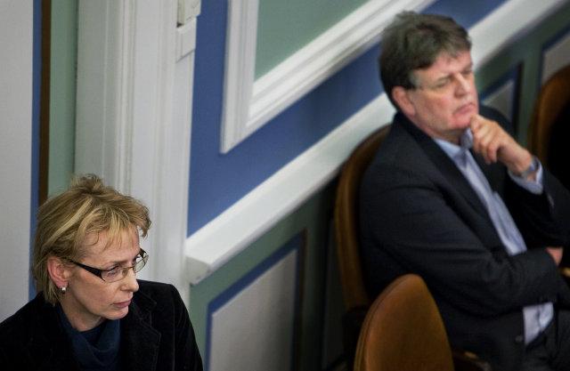Lilja Mósesdóttir og Guðbjartur Hannesson á Alþingi.