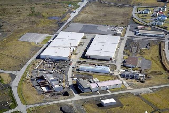 Athafnasvæði gagnavers Verne Holdings á Ásbrú í Reykjanesbæ.