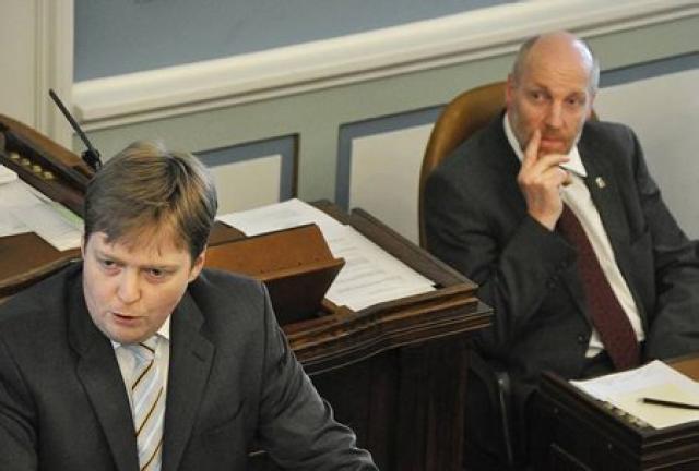 Sigmundur Davíð Gunnlaugsson og Steingrímur J. Sigfússon á Alþingi.