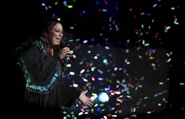 Hera Björk í Söngvakeppni Sjónvarpsins í vetur.